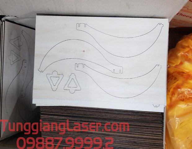 Cắt laser gỗ nét cắt mịn
