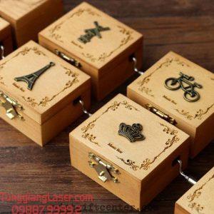 khắc laser hộp gỗ