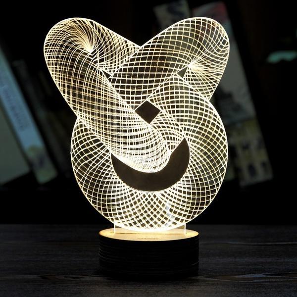 đèn ngủ led mica 3d trang trí